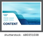 seascape and blue sky...   Shutterstock .eps vector #680351038