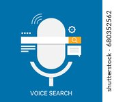 flat design vector for voice... | Shutterstock .eps vector #680352562
