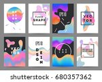 futuristic fluid shapes... | Shutterstock .eps vector #680357362