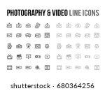 photography   video vector line ...   Shutterstock .eps vector #680364256