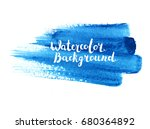 watercolor brush paint stroke.... | Shutterstock .eps vector #680364892