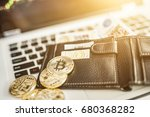 virtual currency wallet.... | Shutterstock . vector #680368282