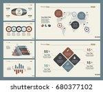 six logistics charts slide... | Shutterstock .eps vector #680377102