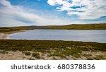 reservoir landscape rocky shore ... | Shutterstock . vector #680378836