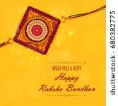 elegant rakhi for brother and... | Shutterstock .eps vector #680382775