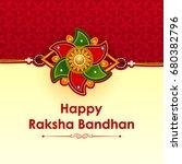 elegant rakhi for brother and... | Shutterstock .eps vector #680382796