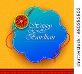 elegant rakhi for brother and... | Shutterstock .eps vector #680382802