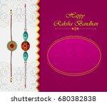 elegant rakhi for brother and... | Shutterstock .eps vector #680382838