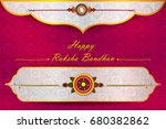 elegant rakhi for brother and... | Shutterstock .eps vector #680382862