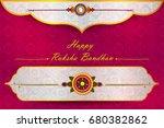 elegant rakhi for brother and...   Shutterstock .eps vector #680382862