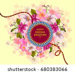 elegant rakhi for brother and... | Shutterstock .eps vector #680383066