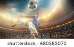 football player about to kick... | Shutterstock . vector #680383072