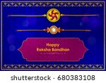 elegant rakhi for brother and... | Shutterstock .eps vector #680383108