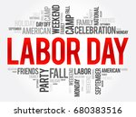 labor day word cloud collage ... | Shutterstock .eps vector #680383516