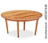 cartoon wood table ... | Shutterstock .eps vector #680387638