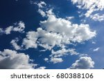 beautiful blue sky with clouds... | Shutterstock . vector #680388106