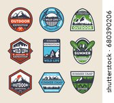 outdoor expedition vintage... | Shutterstock .eps vector #680390206
