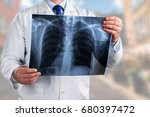 doctor with scan x ray. | Shutterstock . vector #680397472
