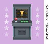 arcade machine design  flat... | Shutterstock .eps vector #680400592