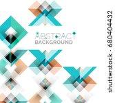 modern square geometric pattern ... | Shutterstock .eps vector #680404432