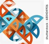 cut paper circles  mosaic mix... | Shutterstock .eps vector #680404906