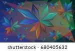 abstract facets background... | Shutterstock .eps vector #680405632