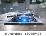 business and technology concept.... | Shutterstock . vector #680409436