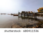 Dock And Boats In The Harbor A...