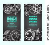 indian food vintage design... | Shutterstock .eps vector #680412898