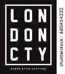 london sport wear typography ...   Shutterstock .eps vector #680414332