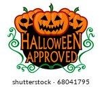 halloween approved super seal | Shutterstock .eps vector #68041795