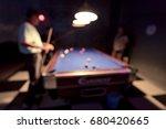 blurred image of  billiards ... | Shutterstock . vector #680420665