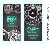 indian food vintage design... | Shutterstock .eps vector #680423728