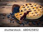 blueberry pie | Shutterstock . vector #680425852