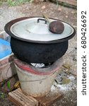 Well Used Old Clay Pot With...