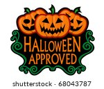 halloween approved label | Shutterstock .eps vector #68043787