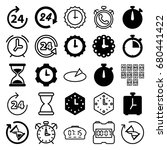 hour icons set. set of 25 hour... | Shutterstock .eps vector #680441422