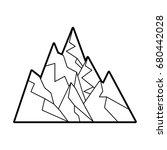 big mountains isolated icon | Shutterstock .eps vector #680442028