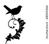 Black Bird  Bird And Plant...