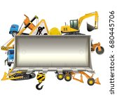 vector construction frame with... | Shutterstock .eps vector #680445706