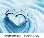 heart from water splash with...   Shutterstock . vector #680446732