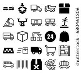 delivery icons set. set of 25... | Shutterstock .eps vector #680461306