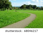 winding path in a green city... | Shutterstock . vector #68046217