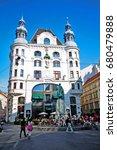 vienna  wien   austria ... | Shutterstock . vector #680479888