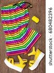 multicolored striped sleeveless ...   Shutterstock . vector #680482396