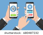 flash design style human hand... | Shutterstock .eps vector #680487232