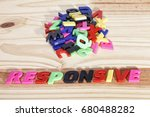 responsive colorful words. | Shutterstock . vector #680488282