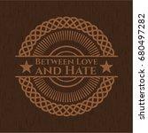 between love and hate badge... | Shutterstock .eps vector #680497282