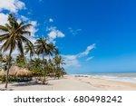 palomino beach at la guajira in ... | Shutterstock . vector #680498242