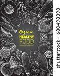 healthy food frame vector... | Shutterstock .eps vector #680498398